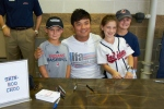 Choo took photos with young Tribe fans.
