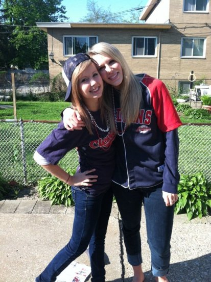 Indians fan and MLB Fan Cave finalist Alexandria Justice (left) heads to Goodyear this week.