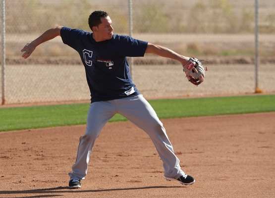 Fresh off a 2012 All-Star Game appearance, Indians shortstop Asdrubal Cabrera works out Friday in Goodyear.