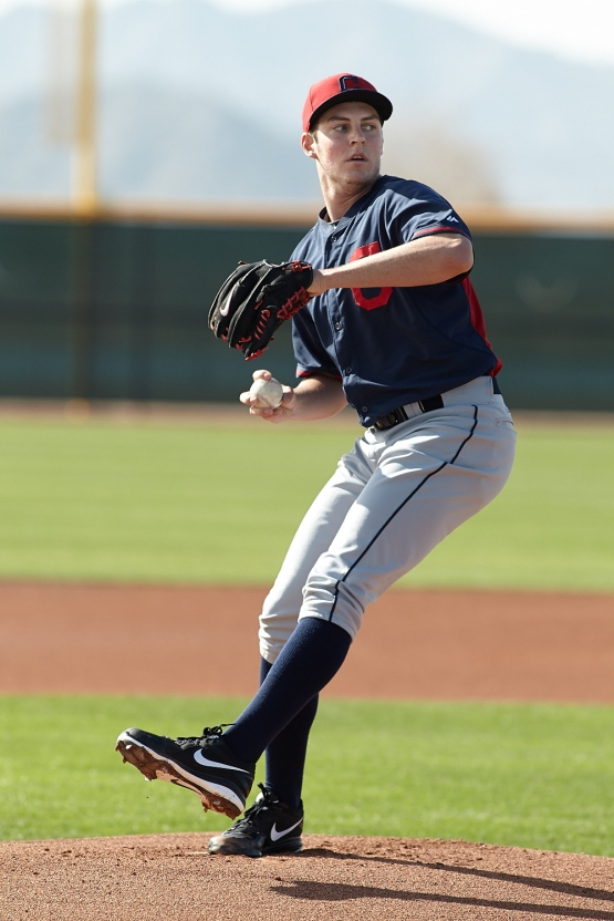 Trevor Bauer threw live BP today.