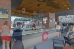 This rendering shows the bar in the new club for some Tribe Season Ticket Holders.