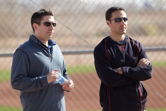 Mike Chernoff (left) will assume the General Manager title, while Chris Antonetti now will be the President of Baseball Operations.