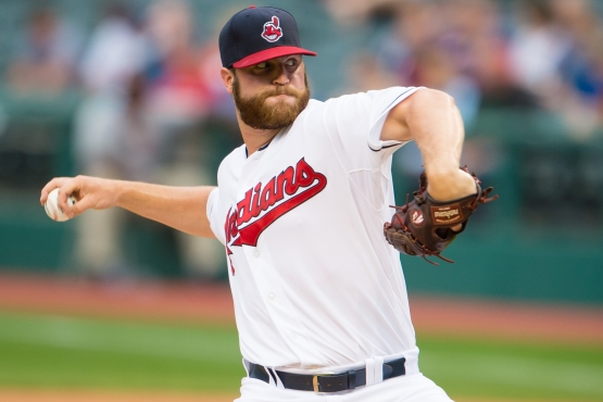 CLEVELAND, OH - JULY 09: Starting pitcher Cody Anderson #56 of the Cleveland Indians pitches during the first inning against the Houston Astros at Progressive Field on July 9, 2015 in Cleveland, Ohio. (Photo by Jason Miller/Getty Images)