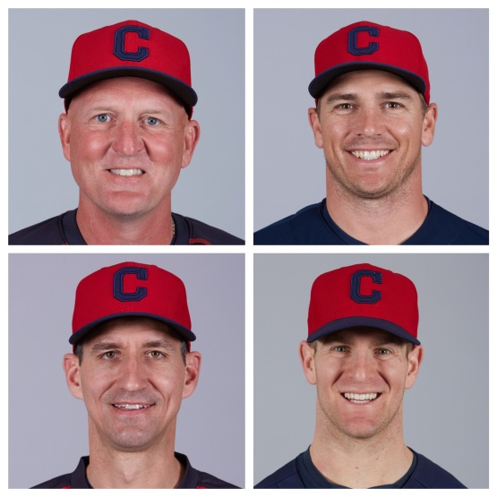 From left to right: Chris Premie (AAA Columbus), Dave Wallace (AA Akron), Mark Budzinksi (High Class-A Lynchburg), and Tony Mansolino (Class-A Lake County).